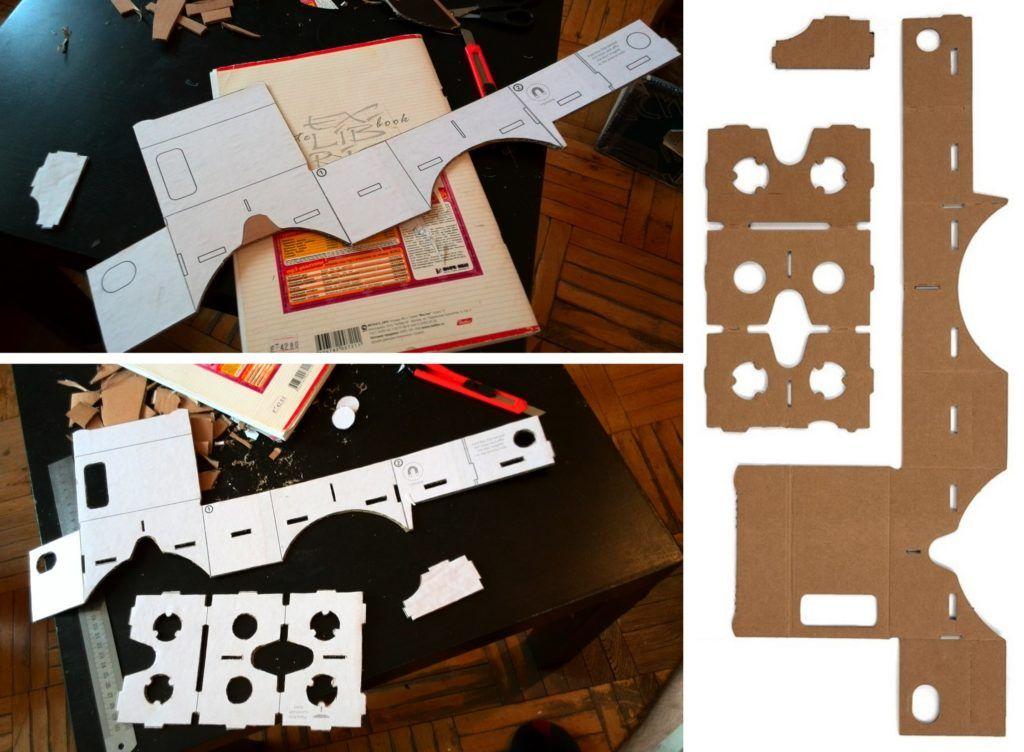 Вырезаем шаблон Cardboard