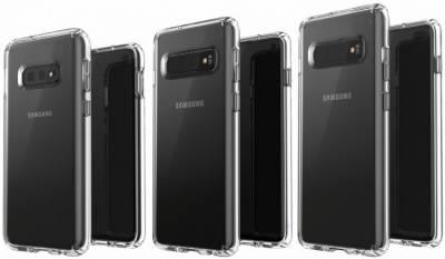 Флагманские смартфоны Samsung Galaxy S10 показали на рендерах