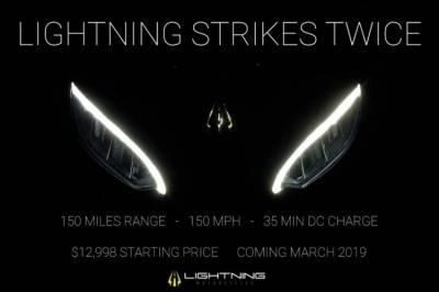 Новый электрический мотоцикл Lightning Strike